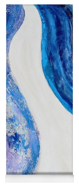 On The Road In Blue Yoga Mat