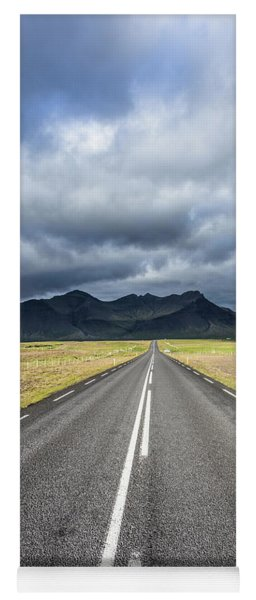 On The Road In Iceland Yoga Mat