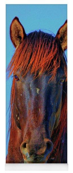 Onaqui Wild Stallion Portrait Yoga Mat
