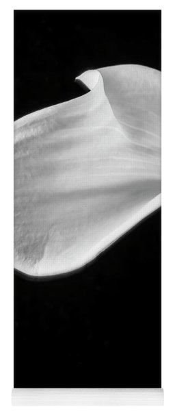 One Beautiful Calla Lily In Black And White Yoga Mat