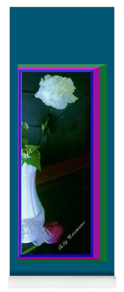 One Carnation And One Rose Bud Yoga Mat