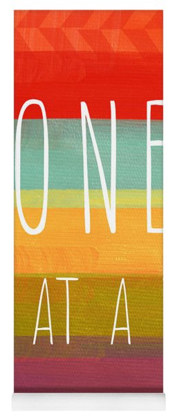 One Day At A Time Yoga Mat