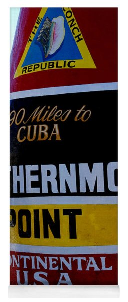 Only 90 Miles To Cuba Yoga Mat