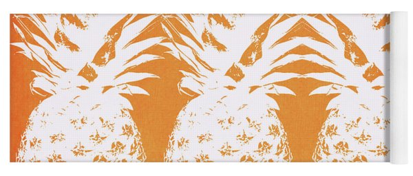 Orange And White Pineapples- Art By Linda Woods Yoga Mat
