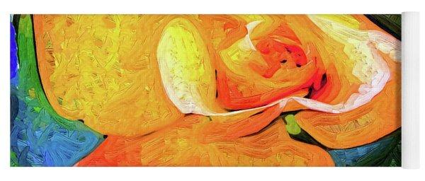 Orange Bud In Fauvism Yoga Mat