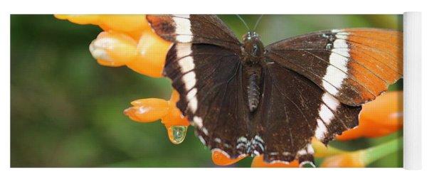 Orange Butterfly Yoga Mat