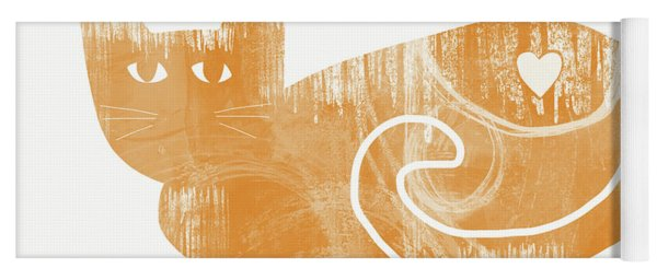 Orange Cat- Art By Linda Woods Yoga Mat