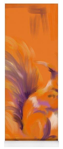 Orange Forest Squirrel Yoga Mat