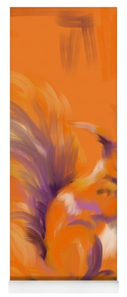 Orange Forest Squirrel Yoga Mat