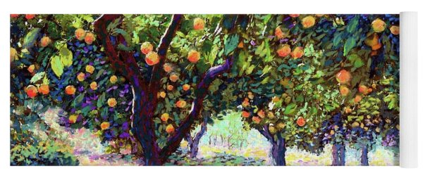 Orange Grove Of Citrus Fruit Trees Yoga Mat