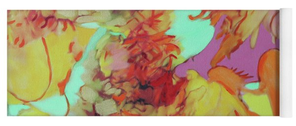 Yoga Mat featuring the painting Orange Is The New Orange by Deborah Boyd