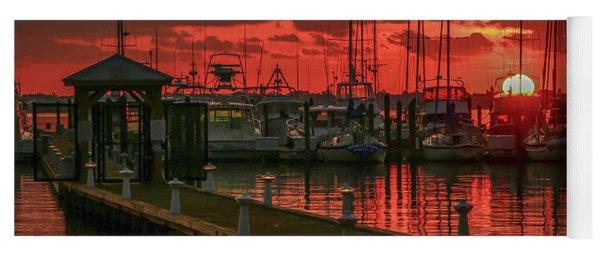 Orange Marina Sunrise Yoga Mat