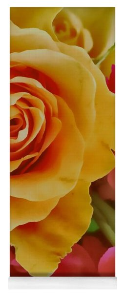 Orange Rose Yoga Mat