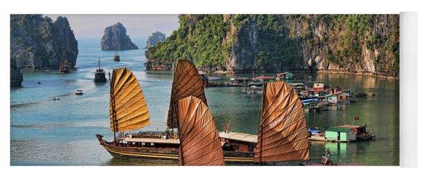 Orange Sails Asian Cruise Vietnam  Yoga Mat