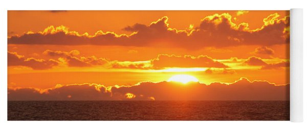 Orange Skies At Dawn Yoga Mat