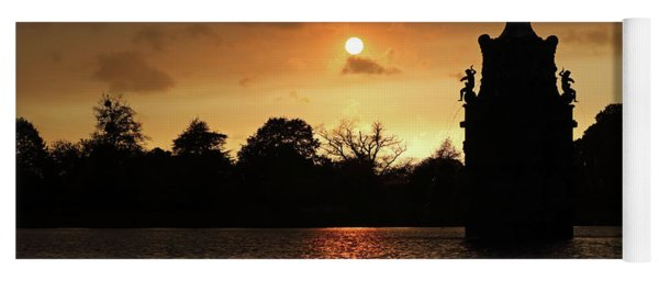Orange Sky At Bushy Park London 1 Yoga Mat