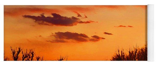 Orange Sky At Night Yoga Mat