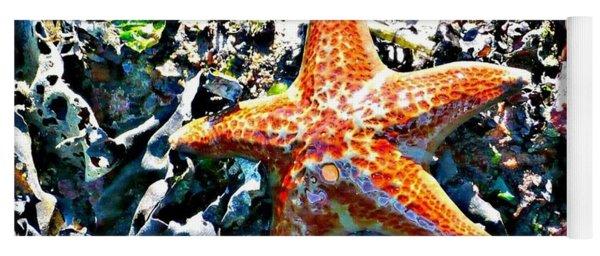 Orange Starfish Yoga Mat