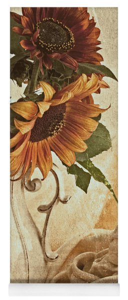 Orange Sunflowers - Found In The Attic Yoga Mat