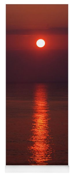 Orange Sunrise Yoga Mat