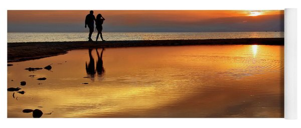Orange Sunset   Yoga Mat