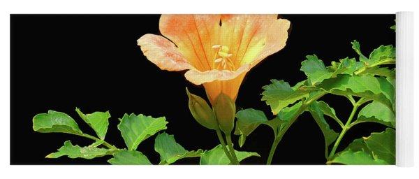 Orange Trumpet Flower Yoga Mat