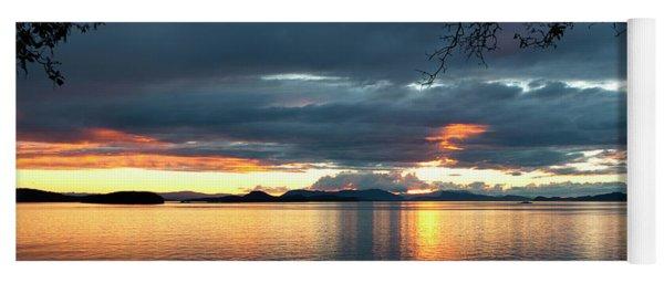 Yoga Mat featuring the photograph Orcas Island Sunset by Lorraine Devon Wilke