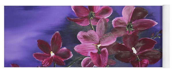 Orchid Blossoms On A Stem Yoga Mat