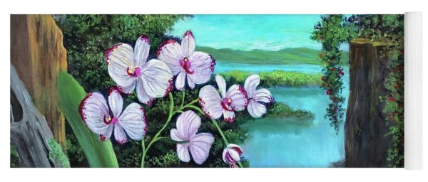 Orchid In Paradise Yoga Mat