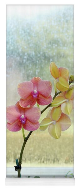 Orchid In Portrait Yoga Mat