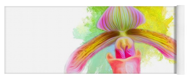 Orchid Whimsy Yoga Mat