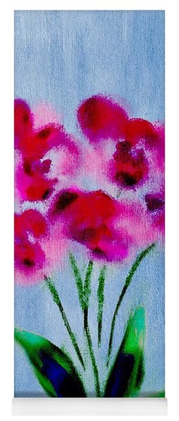 Orchids Abstract Yoga Mat