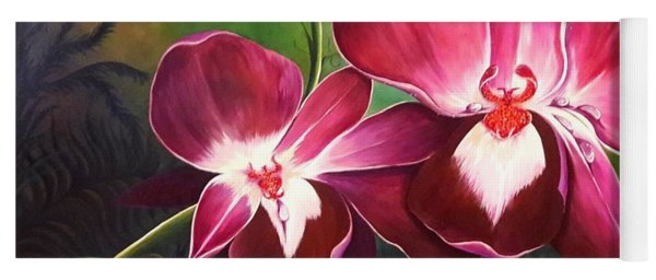 Orchids In The Night Yoga Mat