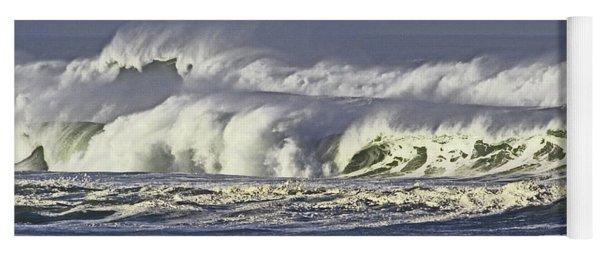 Oregon Coast Waves On A Windy Morning Yoga Mat