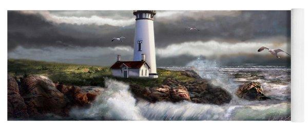 Oregon Lighthouse Beam Of Hope Yoga Mat
