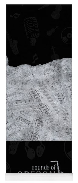Oregon Map Music Notes 2 Yoga Mat