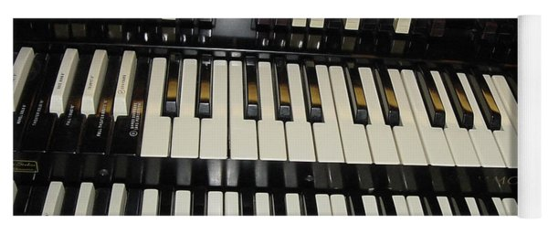Hammond Organ Keys Yoga Mat