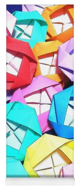 Origami Roses Yoga Mat