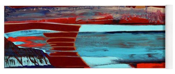 Yoga Mat featuring the painting Origin by Richard Van Vliet