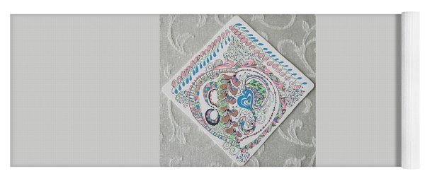 Yoga Mat featuring the drawing Ornament by Carole Breccht