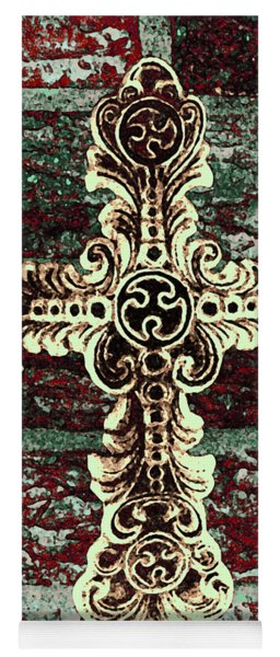 Ornate Cross 1 Yoga Mat