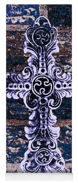Ornate Cross 2 Yoga Mat