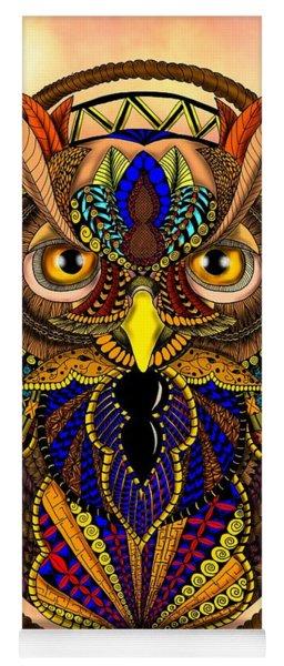 Ornate Owl In Color Yoga Mat