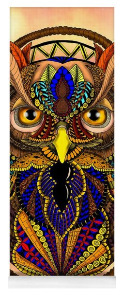 Ornate Owl In Color Yoga Mat