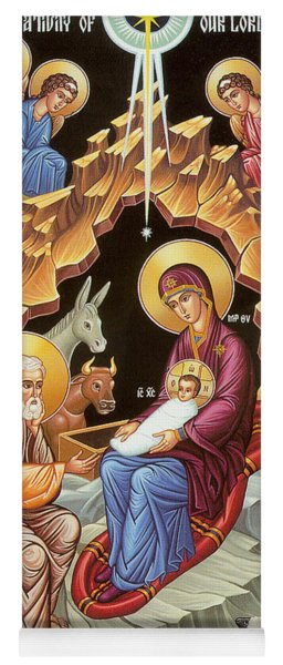 Orthodox Nativity Scene Yoga Mat