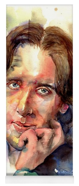Oscar Wilde Watercolor Yoga Mat