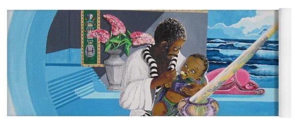 Blaa Kattproduksjoner             Osiris Feeding His Son Horus Yoga Mat