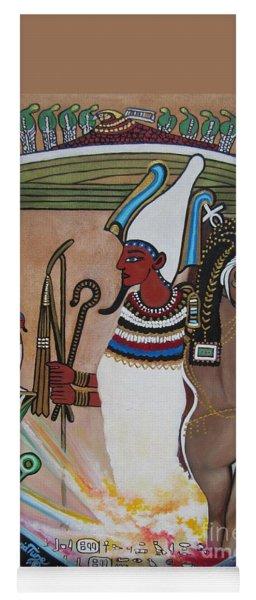 Blaa Kattproduksjoner         Osiris With Goddess Isis And 4 Grandkids Yoga Mat
