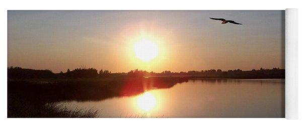 Osprey At Sunset Yoga Mat