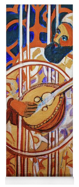 Yoga Mat featuring the painting Oud - Eleven Srings by Denise Weaver Ross